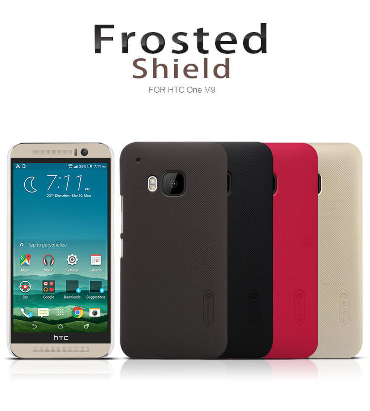 detailed look a3e03 8e4c5 HTC ONE M9 Nillkin Super Frosted Shield Matte cover case