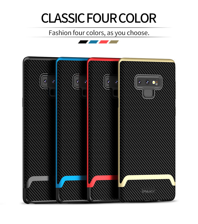 sports shoes f9bcc 62270 Samsung Note 9 Mars Series iPaky Note 9 Silicone Carbon Fiber PC Hybrid  Shockproof Protective Cover for Samsung Galaxy Note 9 Case