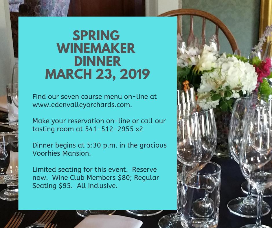 Spring Winemaker Dinner