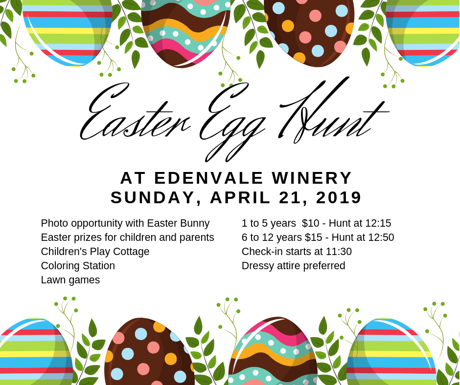 Easter Egg Hunt - ages 1 to 5 years