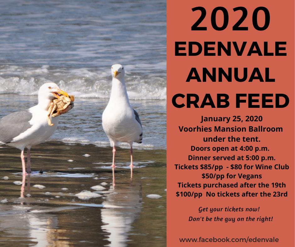 EdenVale Annual Crab Feed- WINE CLUB MEMBER PRICE
