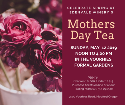 Mother's Day Tea - Ages 12-18