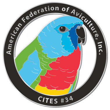 CITES Pin #34- Scarlet-chested Parakeet