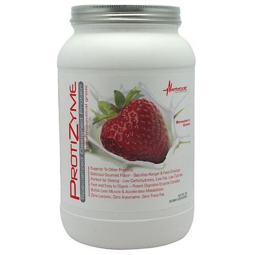 Metabolic Nutrition Protizyme Strawberry Crème 2lb 64779329181