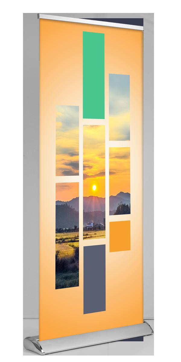 """Deluxe Retractable Banner (33""""x81"""")"""