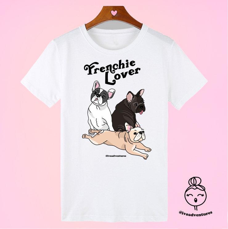 Frenchie Lover - IVO - White Tshirt