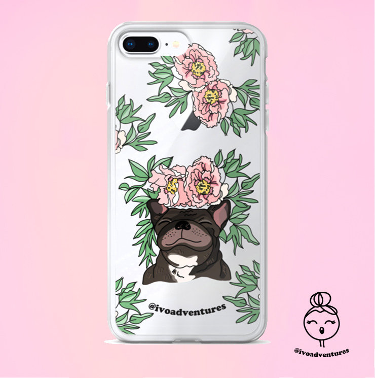 Frenchie Flower - IVO - iPhone Case 6PLUS/7/8PLUS