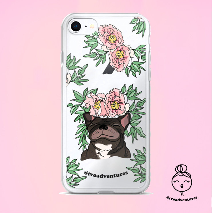 Frenchie Flower - IVO - iPhone case