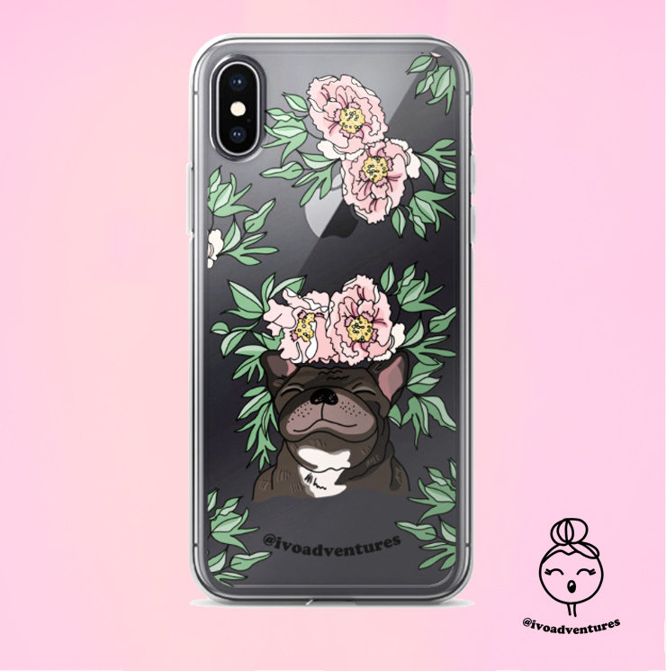 Frenchie Flower - IVO - iPhone X case