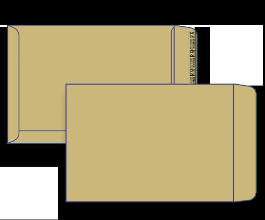 27960 - C4 Brown Craft Plain Face Peel & Seal Pocket
