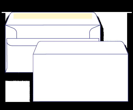 15300 - DL Plain Face Self Seal