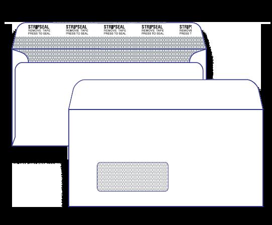 17638 - DLX Barcode Window Face Secretive Peel & Seal 17638 / 7160