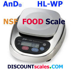 A&D Weighing® HL-3000WPN Food Scale     (3000g. x 1.0g.)