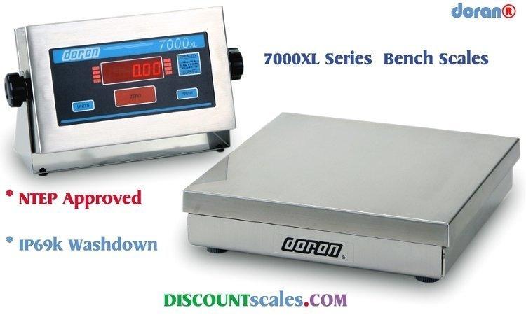Doran® 7025XL Bench Scale  (25 lb. x 0.005 lb.)