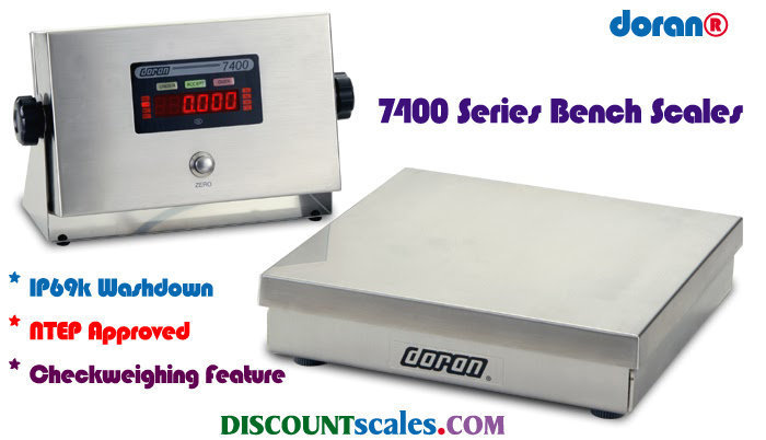 Doran 7425 Bench Scale  (25 lb. x 0.005 lb.)