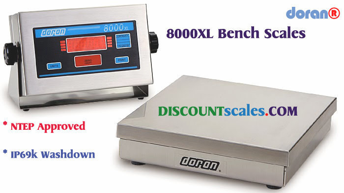 Doran® 8010XL Bench Scale  (10 lb. x 0.002 lb.)