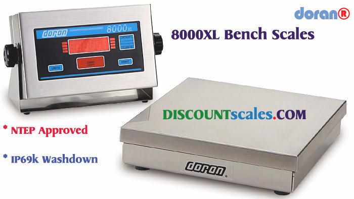 Doran® 8050XL Bench Scale  (50 lb. x 0.01 lb.)