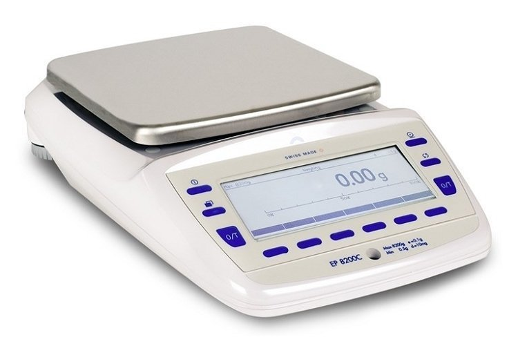 Intelligent Weighing Precisa EP 8200C SCS Balance   (8200g. x 0.01g.)