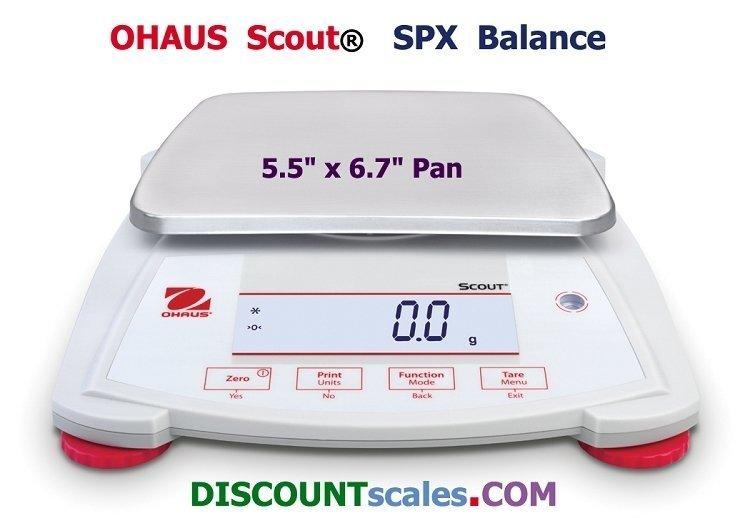 Ohaus® Scout™ SPX6201 Balance  (6200g. x 0.1g.)