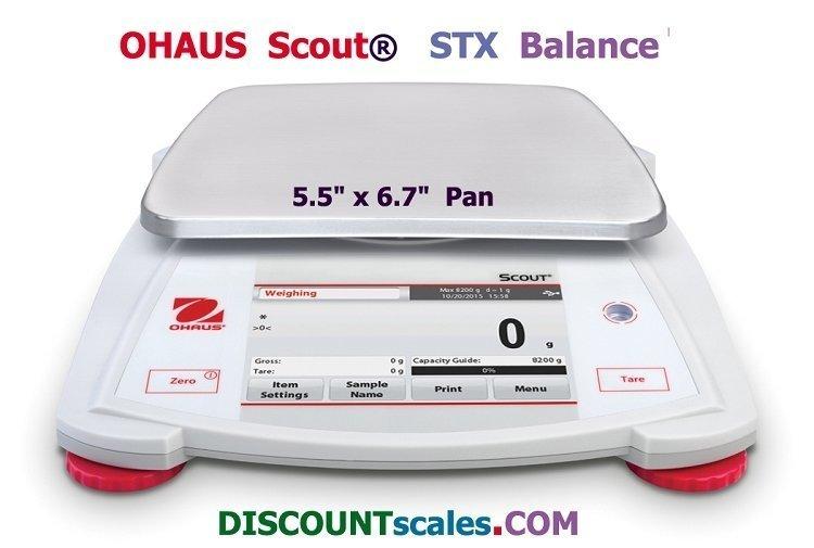 Ohaus Scout STX6201 Balance (6200g. x 0.1g.)