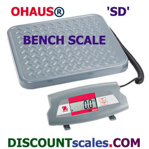 Ohaus® SD75L Bench Scale (165 lb. x 0.1 lb.)