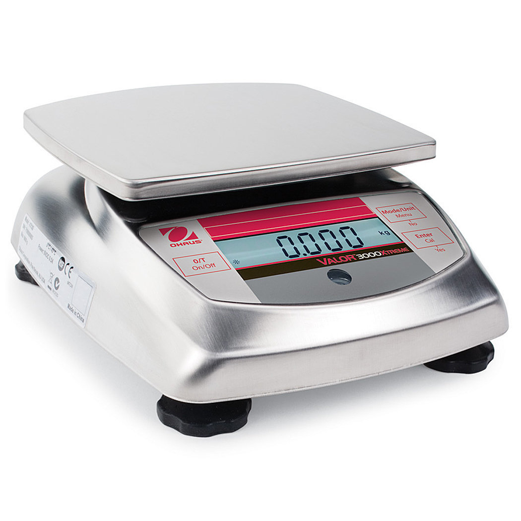 Ohaus® V31X3N Valor™ 3000 Food Scale  (3000g. x 0.5g.)