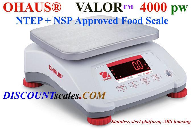 Ohaus® V41PWE15T Valor™ 4000 Food Scale   (30 lb. x 0.005 lb.)