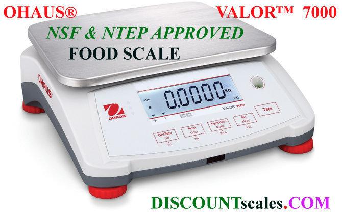 Ohaus® V71P1502T Valor™ 7000 Food Scale   (3.0 lb. x 0.0001 lb.)