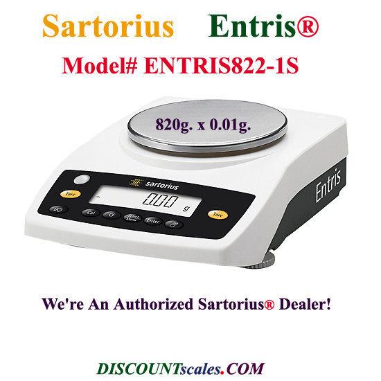 Sartorius® ENTRIS822-1S Balance (820g. x 0.01g.)