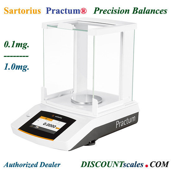 Sartorius® PRACTUM213-1S Milligram Balance  (210g. x 1.0mg.)