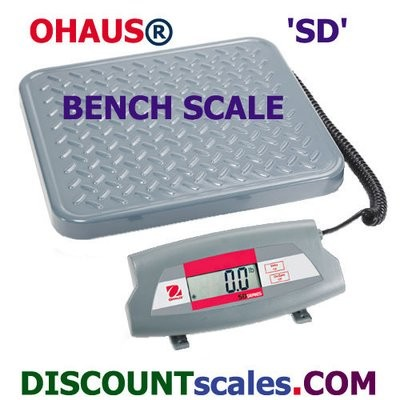Ohaus® SD75 Bench Scale  (165 lb. x 0.1 lb.)