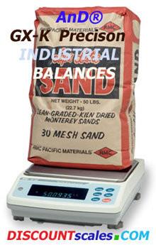 A&D Weighing® GX-30K Industrial Balance  (31Kg. x 0.1g.)