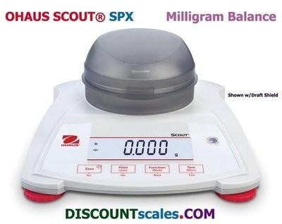 Ohaus® Scout™ SPX223 Milligram Balance (220g. x 0.001g.)