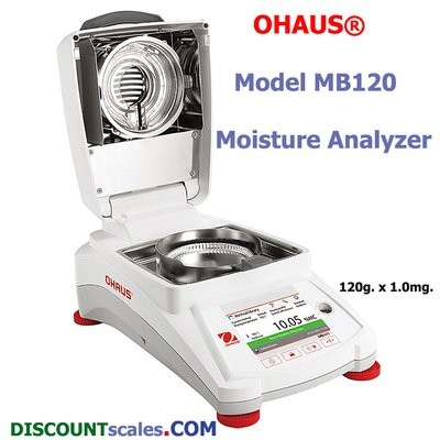 Ohaus® MB120 Moisture Analyzer (120g. x 0.001g.)