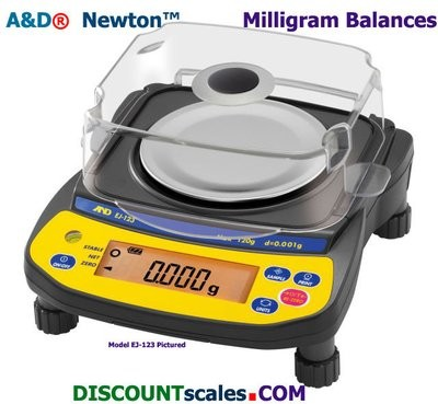 A&D Weighing® Newton™ EJ-123 Milligram Balance (120g. x 1.0mg.)