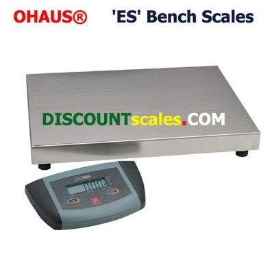Ohaus ES100L Low-Profile Bench Scale  (220 lb. x 0.1 lb.)