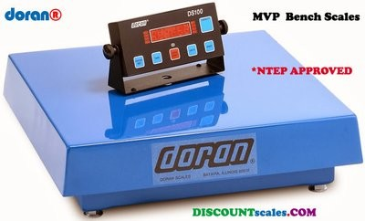 Doran® MVP4250 Bench Scale  (250 lb. x 0.05 lb.)