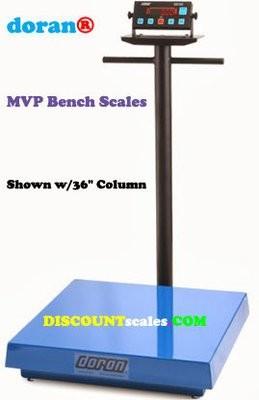 Doran® MVP4250-36 Bench Scale  (250 lb. x 0.05 lb.)