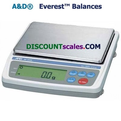 A&D Weighing® EK-600i Everest™ Balance   (600g. x 0.1g.)