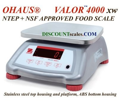 Ohaus V41XWE3T Valor 4000 Food Scale   (6.0 lb. x 0.001 lb.)