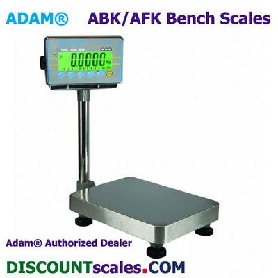 Adam ABK 130a Bench Scale  (130 lb. x 0.005 lb.)