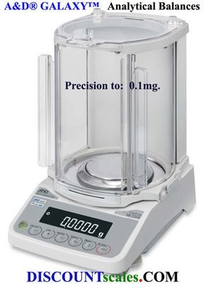 A&D Weighing® Galaxy™ HR-100AZ Analytical Balance (102g. x 0.1mg.)