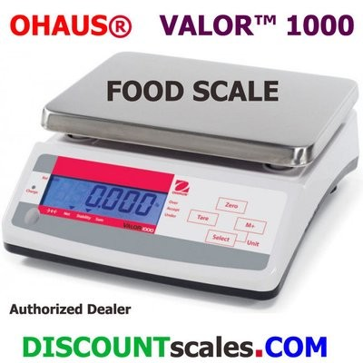 Ohaus® V11P3T Valor™ 1000 Food Scale (6.6 lb. x 0.001 lb.)