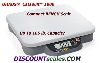 Ohaus® C11P75 Catapult 1000™ Bench Scale (165 lb. x 0.1 lb.)