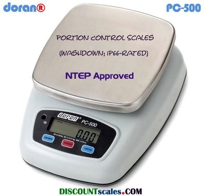 Doran® PC500-05 Washdown Portion Control Scale (5 lb. x 0.002 lb.)