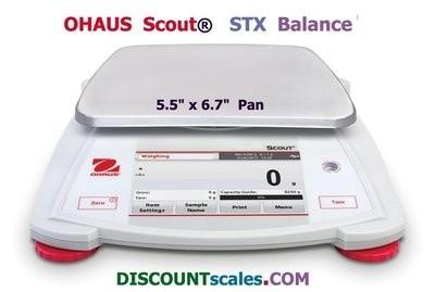 Ohaus® Scout™ STX1202 Balance (1200g. x 0.01g.)