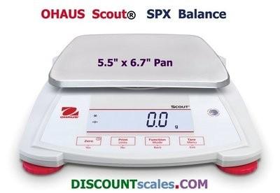 Ohaus® Scout™ SPX8200 Balance  (8200g. x 1.0g.)
