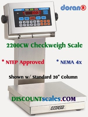 Doran 22200CW/15 CheckWeighing Scale  (200 lb. x 0.05 lb.)