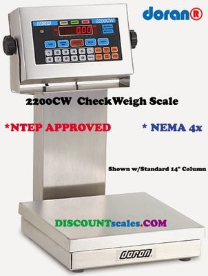 Doran® 22100CW/15 CheckWeighing Scale  (100 lb. x 0.02 lb.)