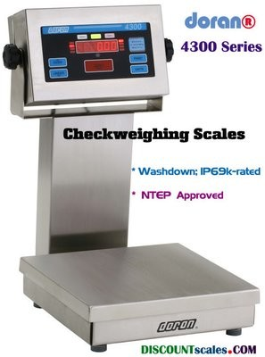 Doran® 43200P/15S CheckWeighing Scale  (200 lb. x 0.05 lb.)
